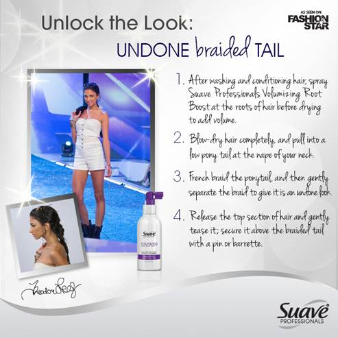 Undone Braided Tail Hairstyle