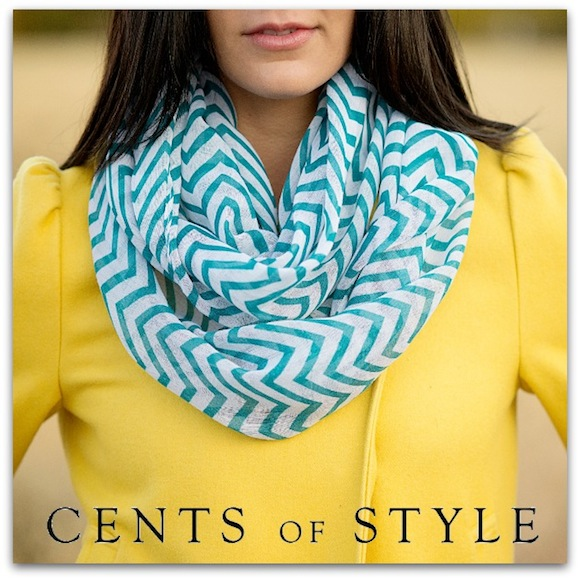 chevron scarf teal