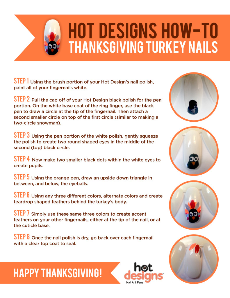 Thanksgiving Turkey Nails Tutorial