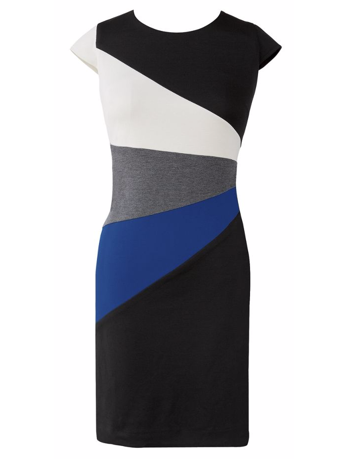 Fan Colorblock Dress