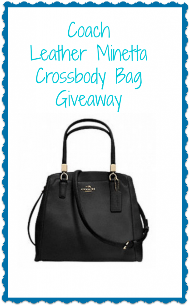 Coach Leather Minetta Crossbody Bag Giveaway