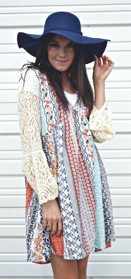Boho Bell Sleeve Dress from Valshi Boutique