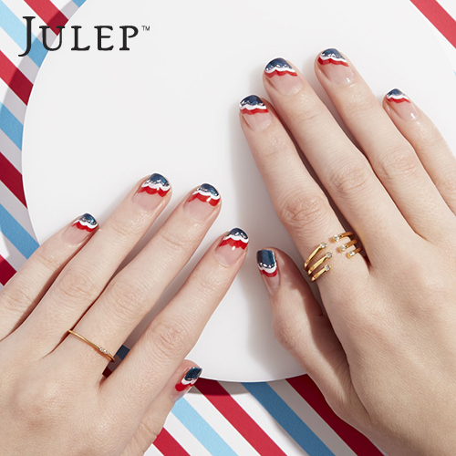 patriotic waves nails