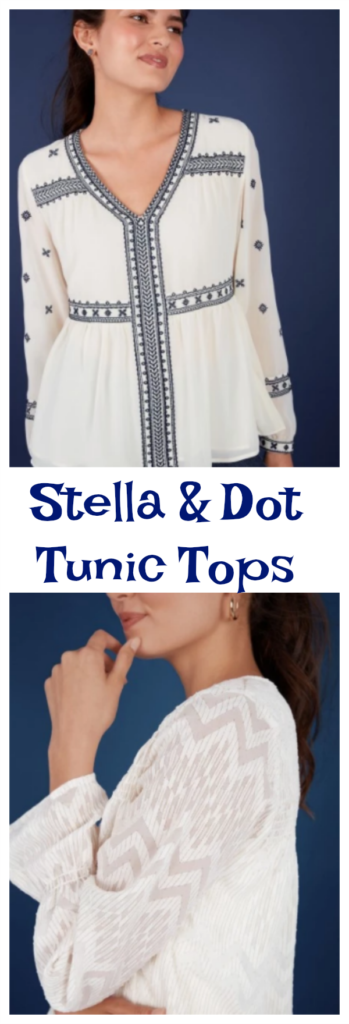 Stella & Dot just launched a brand new line of apparel, starting with a collection of amazing tunic tops!