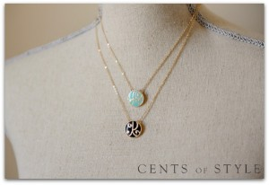 Cents of Style Initial Necklace