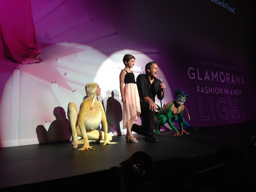 12-year-old cancer survivor Yvonne Welborn with Cirque du Soleil