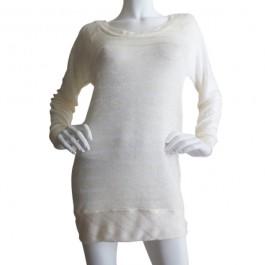 creamstripedsweaterknitlongsleevesweater