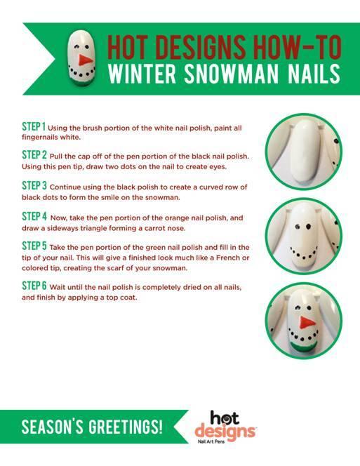 Winter Snowman Nail Tutorial
