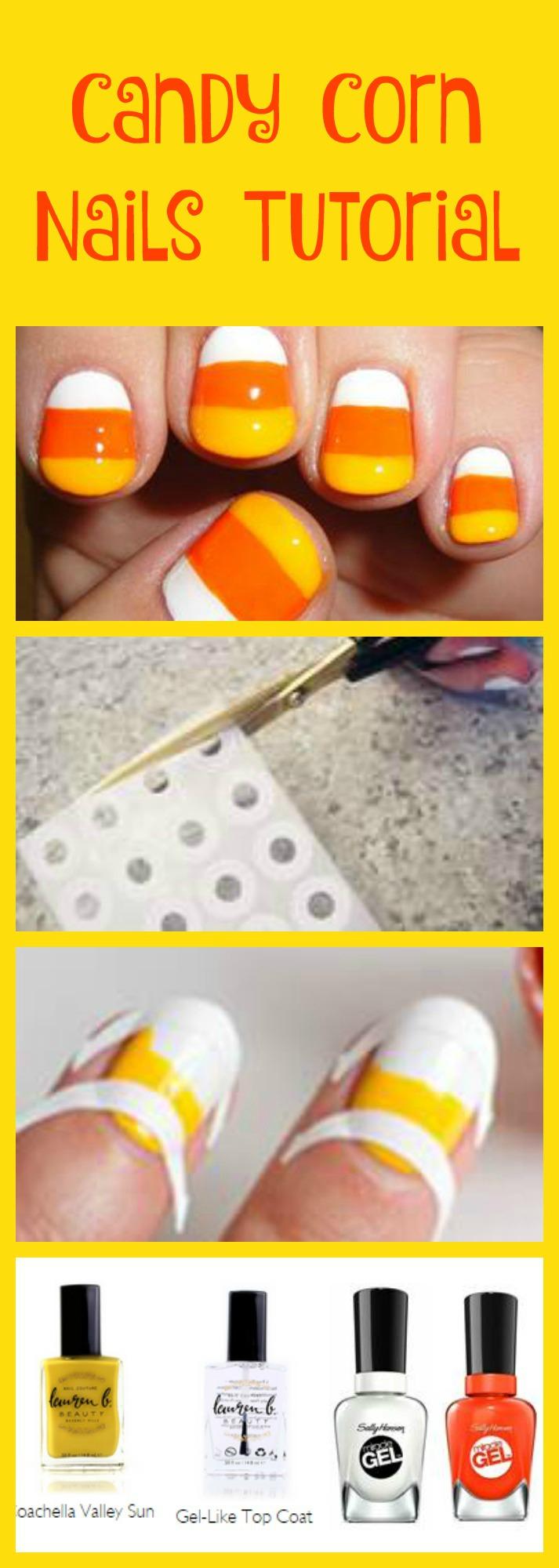 Candy Corn Nails Tutorial Jinxy Beauty