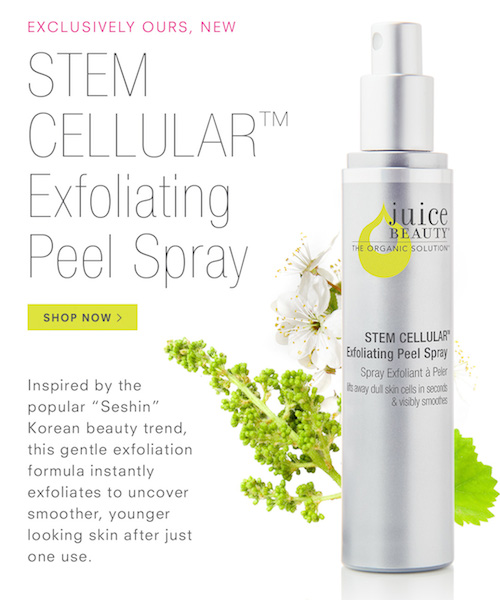 Stem Cellular Exfoliating Peel Spray Inspired by Sheshin Korean Beauty Trend